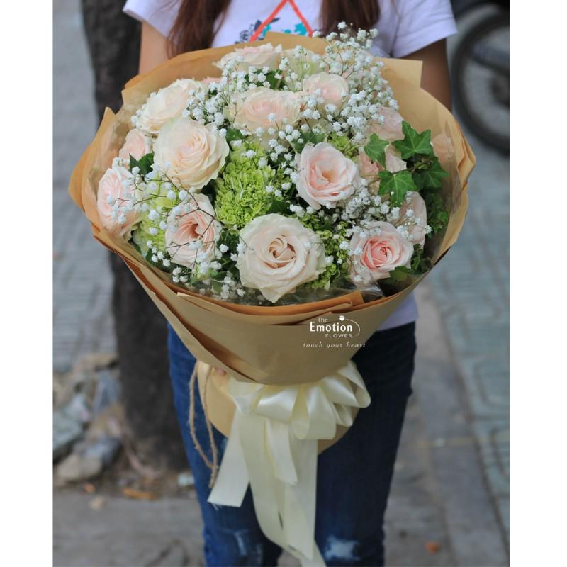Bó hoa hồng Marzipan