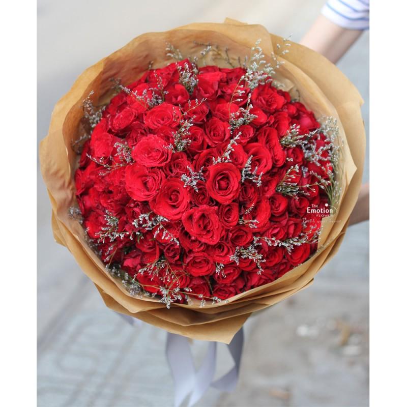 100 bông hồng đỏ