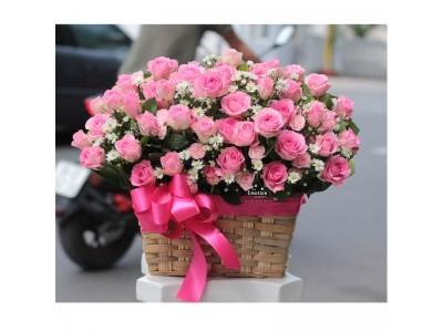 Những lẵng hoa, giỏ hoa hồng tuyệt đẹp dành tặng người yêu