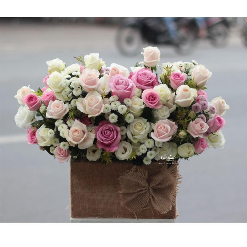 Kết quả hình ảnh cho lẵng hoa hồng đẹp